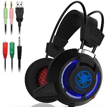 Auriculares de juego con micrófono para ordenador portátil, teléfono móvil, PS4, Xbox One