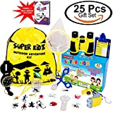 Adventure Kids - 25 Pcs VALUE PACK Birthday Gift, Bug Catcher Kit for Kids, Outdoor Nature Exploration Set for Boys & Girls, Childrens Pretend Play Fun Toys, Camping, Hiking, Everything Included!