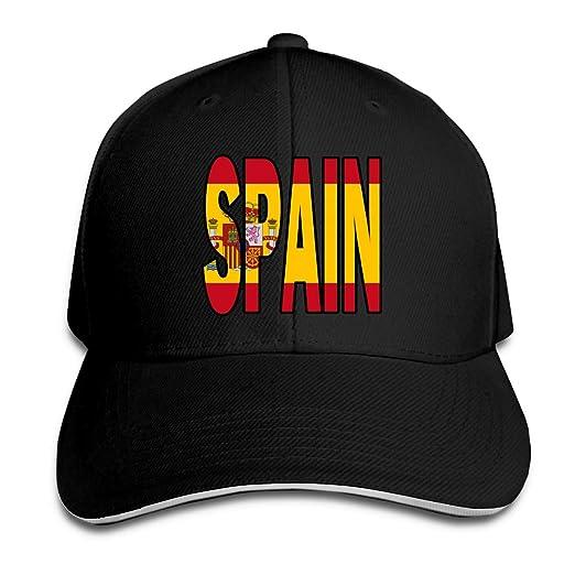 Gorra de Béisbol Unisex Bandera de España Sombrero Plano de ...