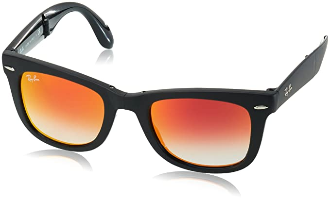 ce95129f0 ... release date ray ban folding wayfarer sunglasses matte black 50mm 8f2bc  a8871