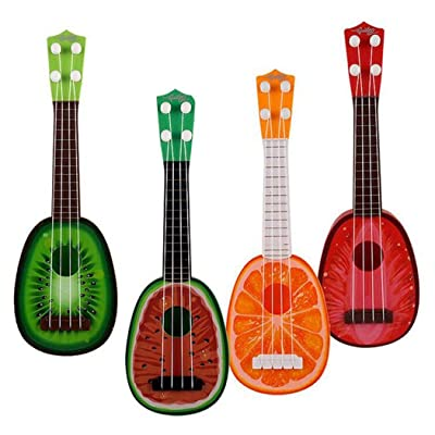 MUDEREK Durable Multifunctional Cute Baby Ukulele Musical Toy Early Education Toy Jackets Yellow: Clothing [5Bkhe0304083]