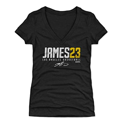 109b4814ae21 500 LEVEL LeBron James Women s V-Neck Shirt Small Tri Black - Los Angeles  Basketball