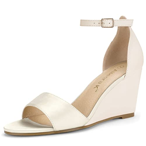 18fc74cd14c6f Allegra K Women's Ankle Strap Low Wedges Sandals