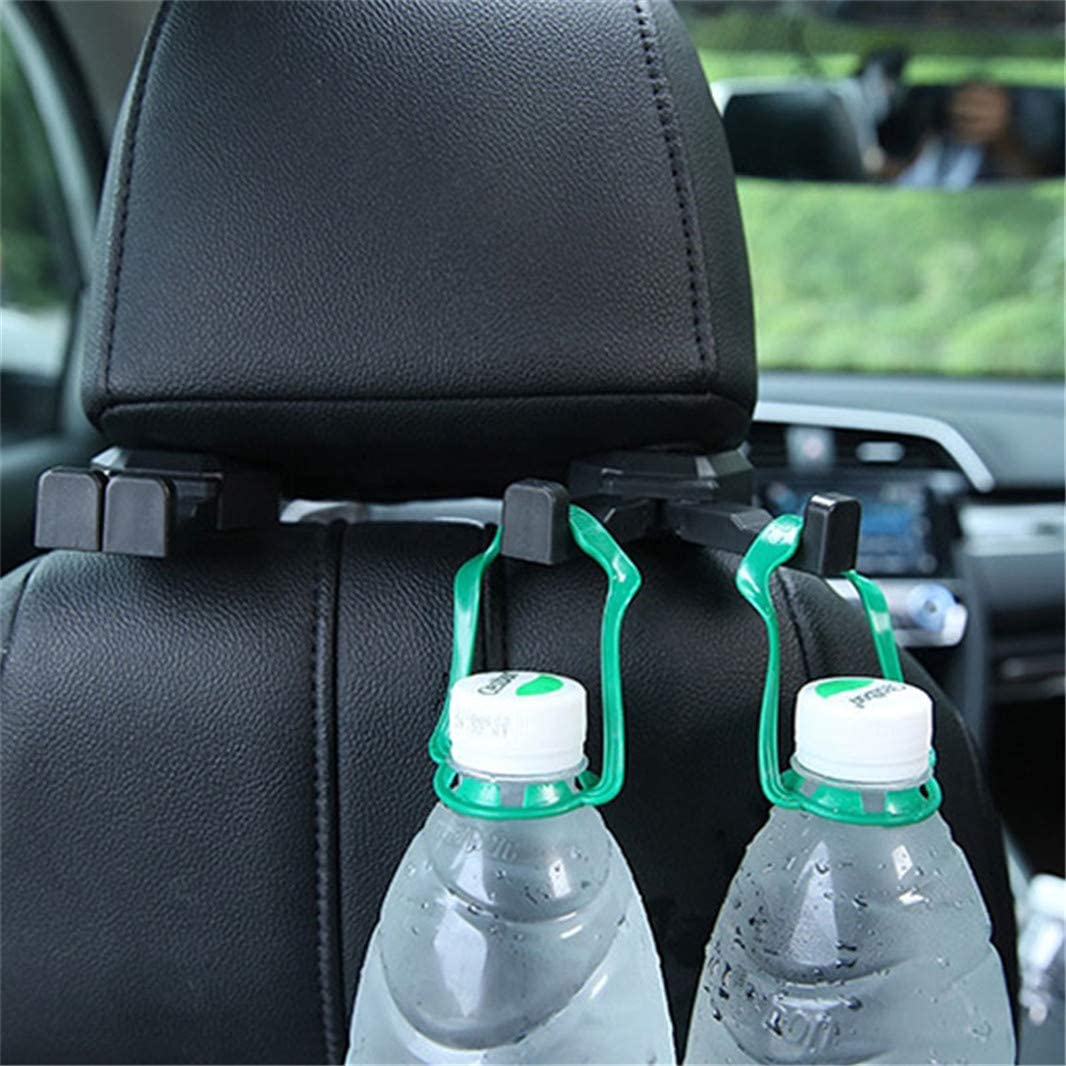 Set of 2 Beige Sperrins Car Headrest Hook,Durable Backseat Headrest Hanger for Holding Phones and Hanging Bag Grocery