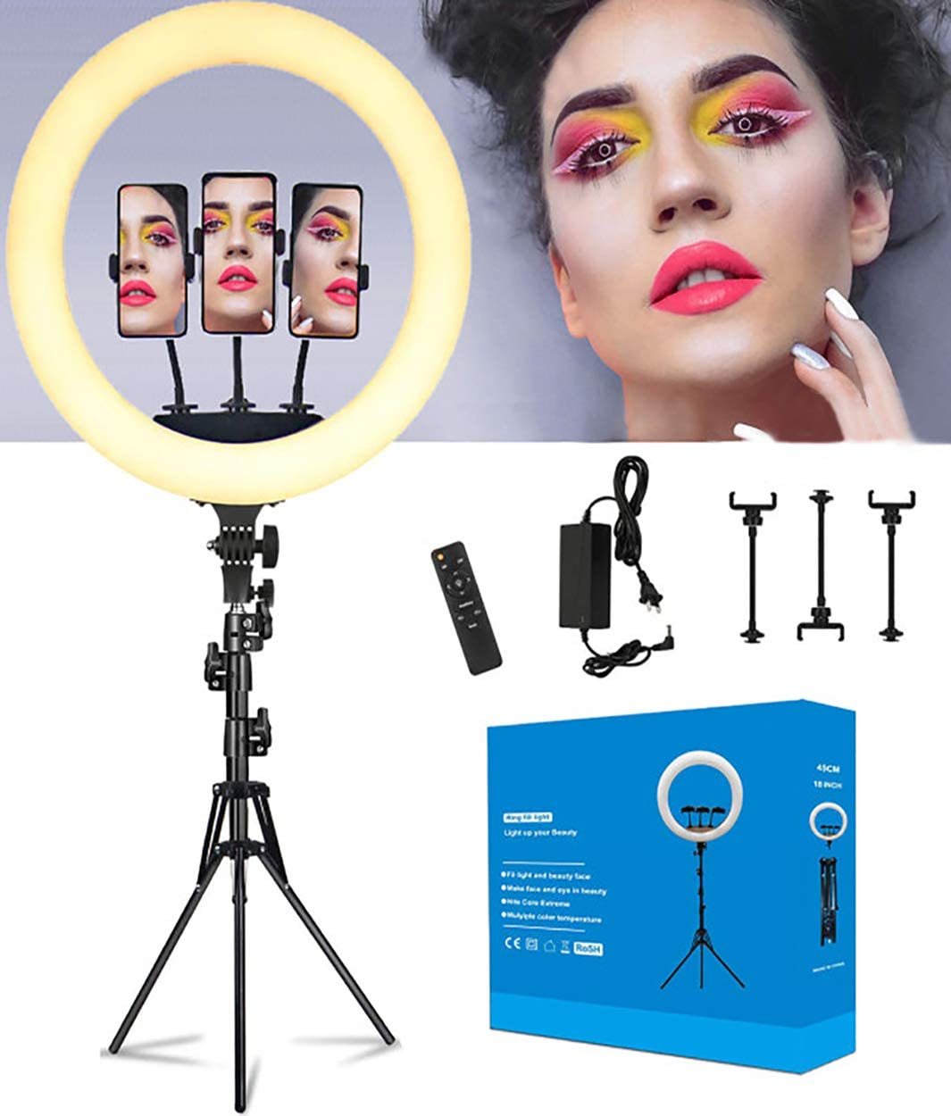 Ring Light with Tripod Stand and Cell Phone Holder