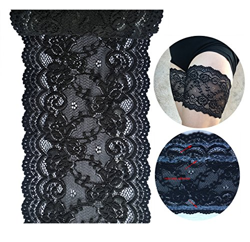 LACEREALM Silicone Lined Elastic Lace For Make Thigh Bands (Lace Band)