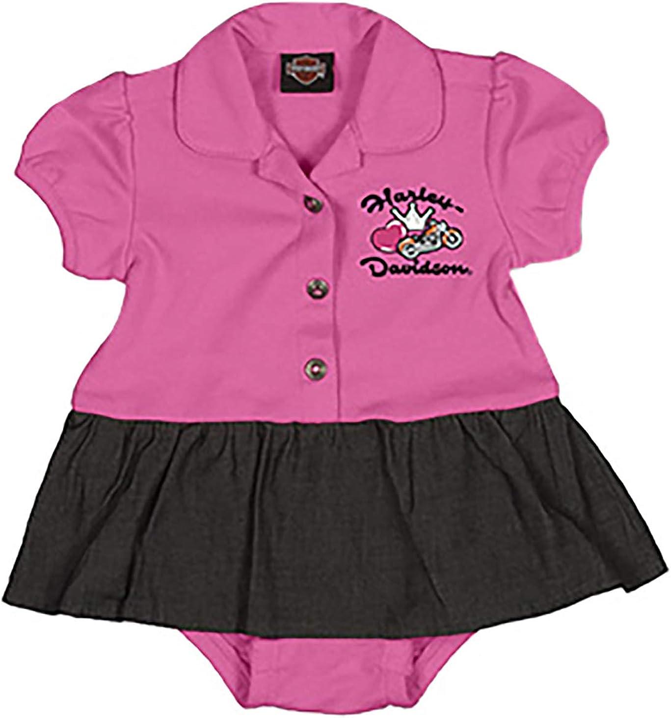Harley-Davidson Baby Girls Princess Creeper Set 2 Pack Pink//White 3000557