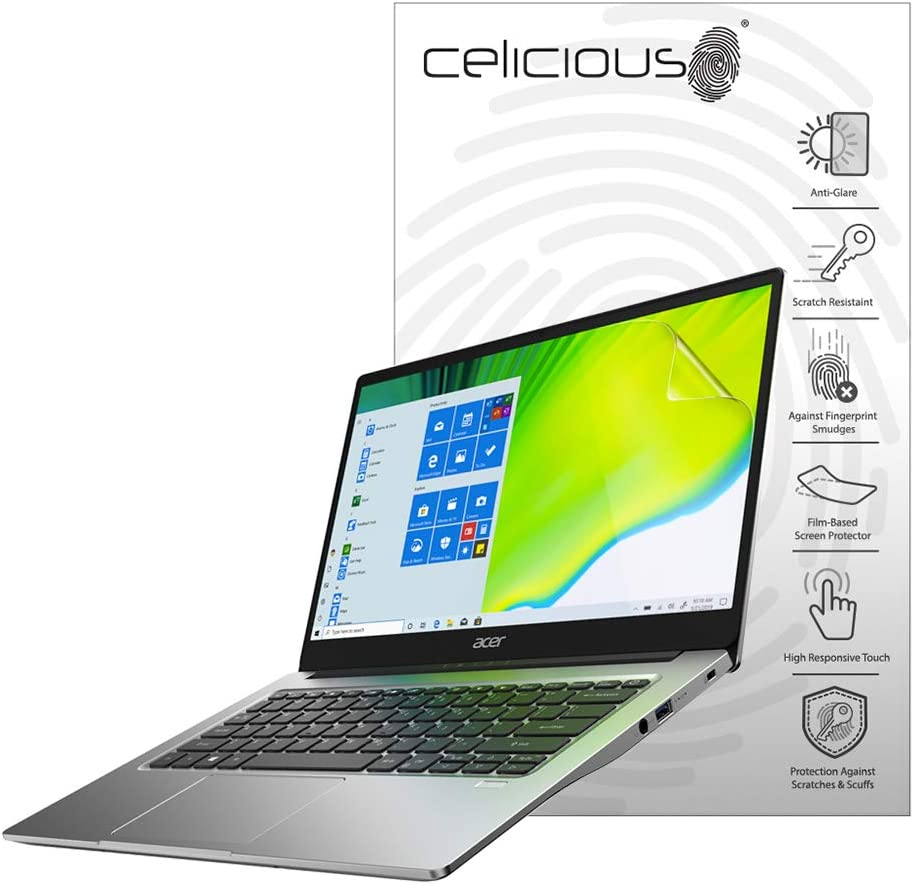 Celicious Matte Anti-Glare Screen Protector Film Compatible with Acer Swift 3 SF314-42 [Pack of 2]