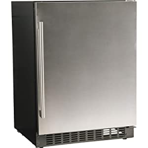 "Azure 24"" Refrigerator with Solid Stainless Steel Door, A124R-S"