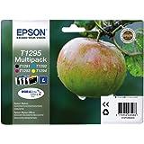 Epson T1295 - Pack de 4 cartuchos de tinta, tricolor y negro