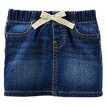 Carter's Girl's Denim-Like Blue Skirt (12 Months)
