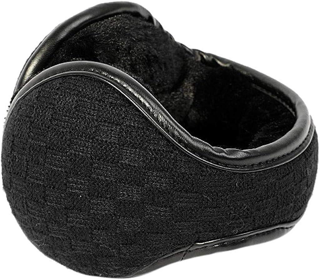 FEDULK Unisex Foldable Winter Outdoor Ear Cover Wrap Hamburger Thicken Plush Earwarmer Earmuffs