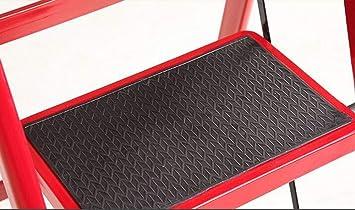 GYX Escalera plegable para el hogar - Escalera roja de tres escalones, Escalera telescópica interior Material de acero al carbono Espesor de pedal antideslizante: Amazon.es: Bricolaje y herramientas