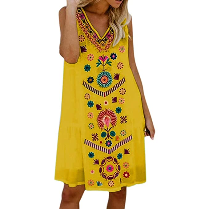 Vectry Ropa Mujer Vestidos Vestidos De Fiesta De Día Vestidos Cortos Elegantes Vestidos Casual De Mujer Primavera Vestidos Niña Verano Vestidos: Amazon.es: ...