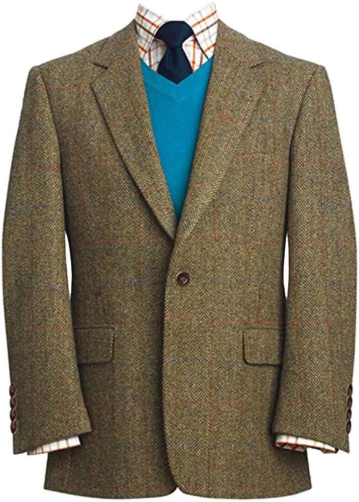 The Scotland Kilt Company Wool Premium Mens Authentic Blazer Stromay Harris Tweed Jacket