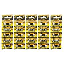 HyperPS (50 pcs) AG3 Alkaline 1.5V Button Cell Battery Single Use LR41 192 SR736 V36A 384 SR41SW Watch Toys Remotes Cameras
