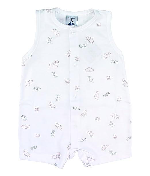 Pijama nubes y pollitos abertura delantera (6, Rosa)