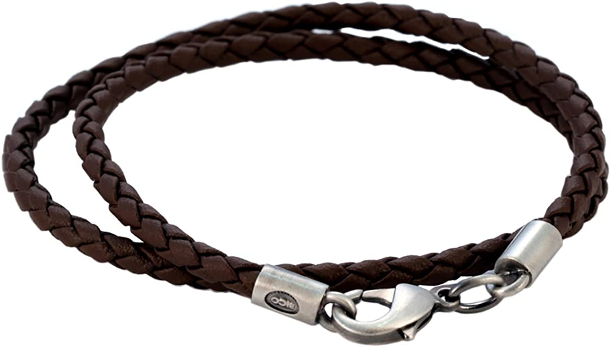 Bico 4mm (0.16 inch) Brown Braided Necklace (CL14 Brown)