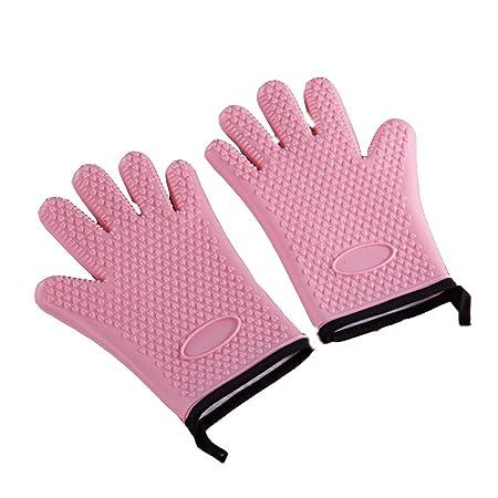 Guante de horno, guantes de cocina de silicona resistentes al ...