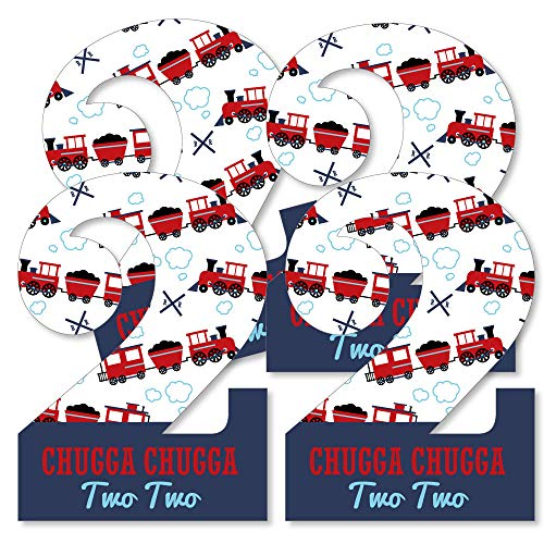 2nd Birthday Railroad Party Crossing - Two Shaped