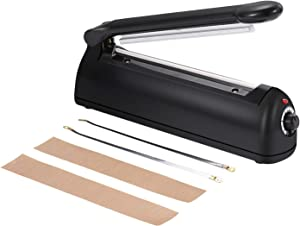 OKDEALS Impulse Heat Sealer 8Inch | Bag Heat Sealing Machine for Food Preservation,Manual Sealer Heat Seal Closer with Repair Kit