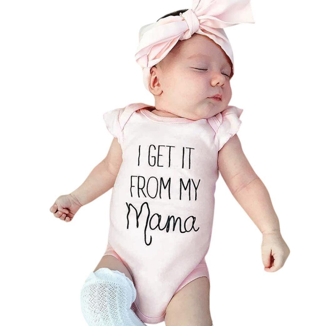 Amazon.com: Conjunto de traje de verano para bebés y niñas ...