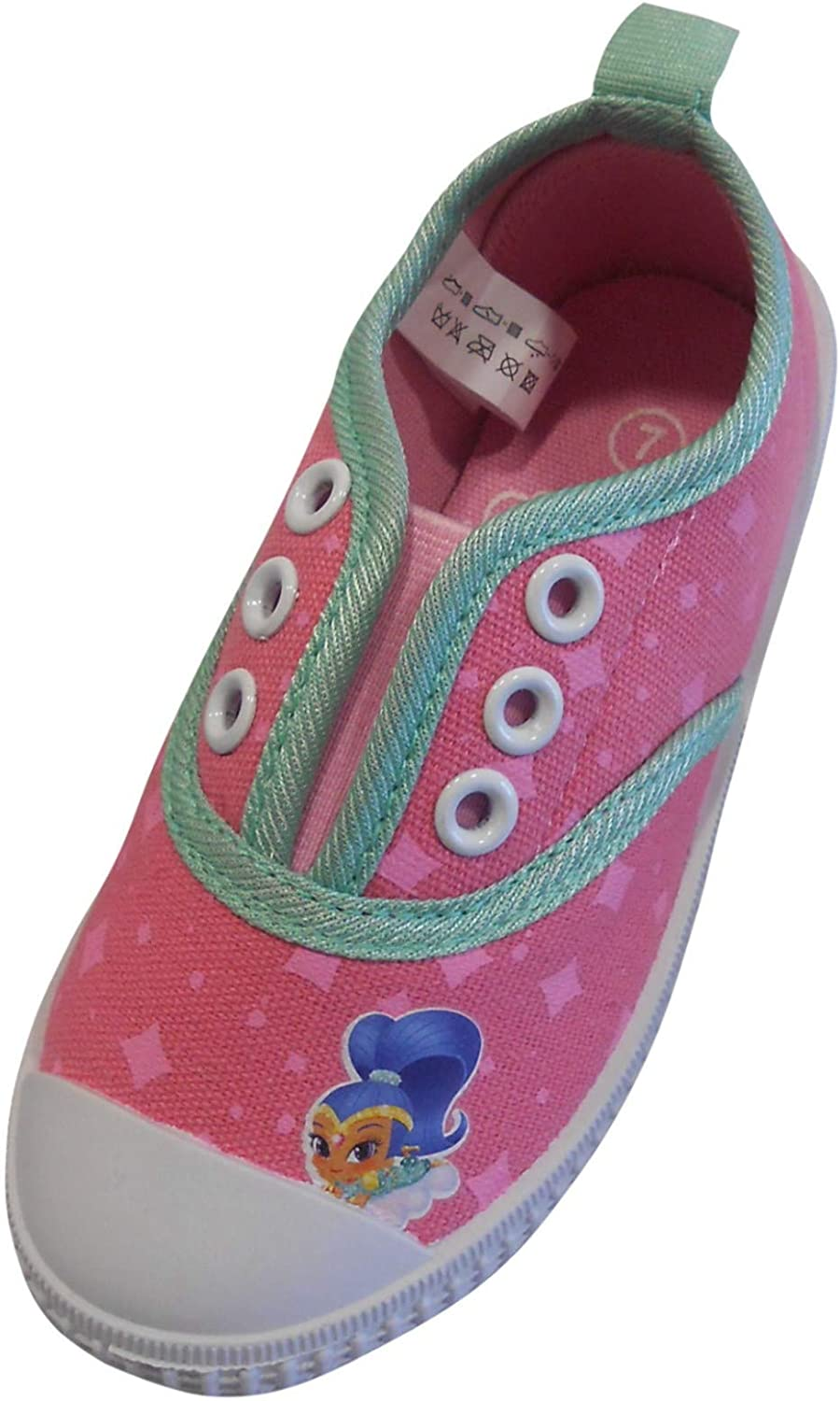 Girls Laceless Canvas Trainer Slip On