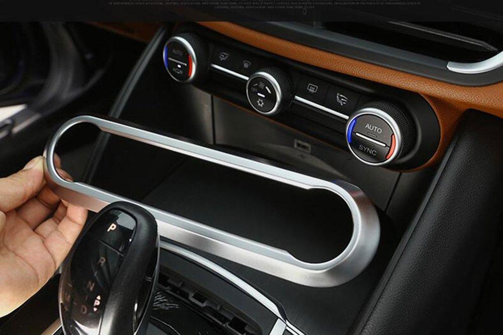 ABS Chrome Center Air Conditioning Adjustment Frame Trim For Giulia Stelvio 2017-2019