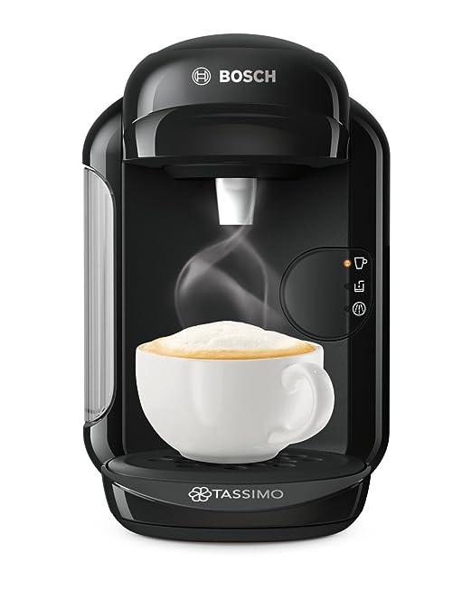 Bosch TAS1402 Tassimo Vivy 2, Cafetera automática de cápsulas, diseño compacto, 1300 W, color negro