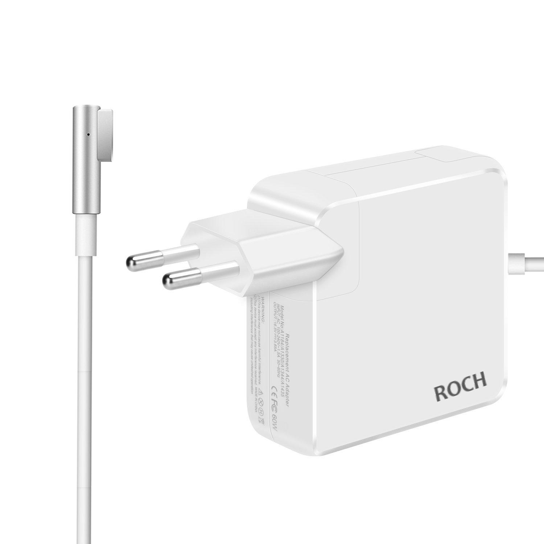 ROCH Macbook Pro Cargador, Adaptador de Corriente MagSafe 1 de 60W con Conector Estilo L(para MacBook Macbook Air y MacBook Pro de 13 Pulgadas,Antes ...