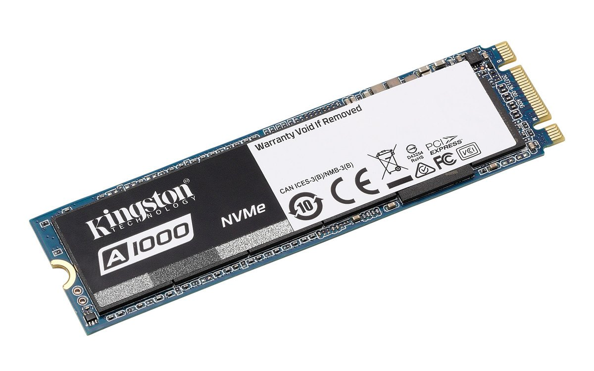 Kingston Digital SA1000M8/480G A1000 480GB PCIe NVMe M.2 2280 Internal SSD High Performance Solid State Drive
