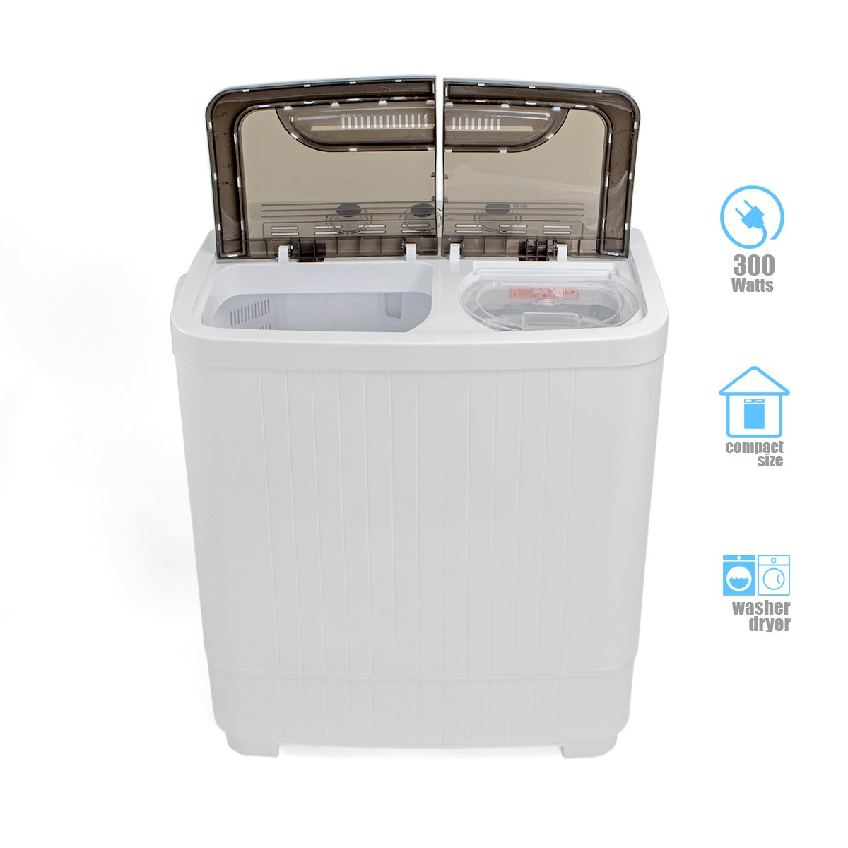 Amazon.com: Portable Compact Washer And Spin Dry Cycle With Built In Pump  300W Apartment Washer Spinning Dryer: Appliances