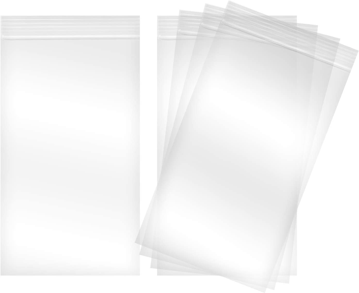 Reclosable Clear Plastic Zip Bags - by DiRose | Resealable, Strong, Thick, Sturdy, Food Safe | for Organizing, Travel, Shipping, Packaging, and Storage | 2x3 | 100 Pack