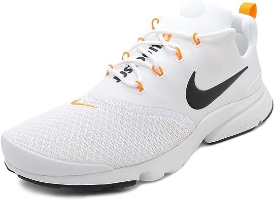 lento vacunación Paraíso  Nike Presto Fly JDI, Zapatillas de Running para Hombre, Multicolor (White/Black/Total  Orange 100), 45.5 EU: Amazon.es: Zapatos y complementos