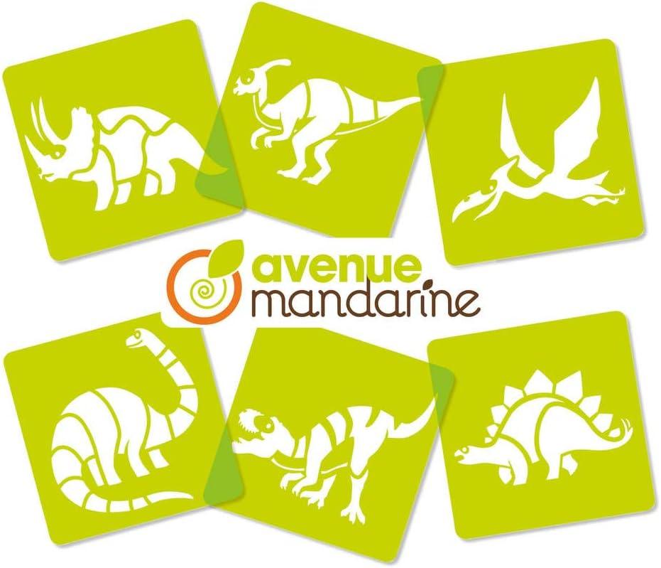 Mandarin 6 Schablonen Dinosaurier
