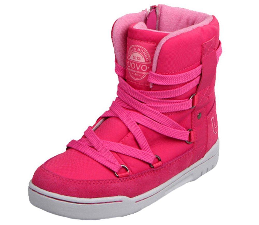 VECJUNIA Boys Girls Waterproof Sport Hiking Boots Fashion High Top Zipper Short Boot Red 13.5 M US Little Kid