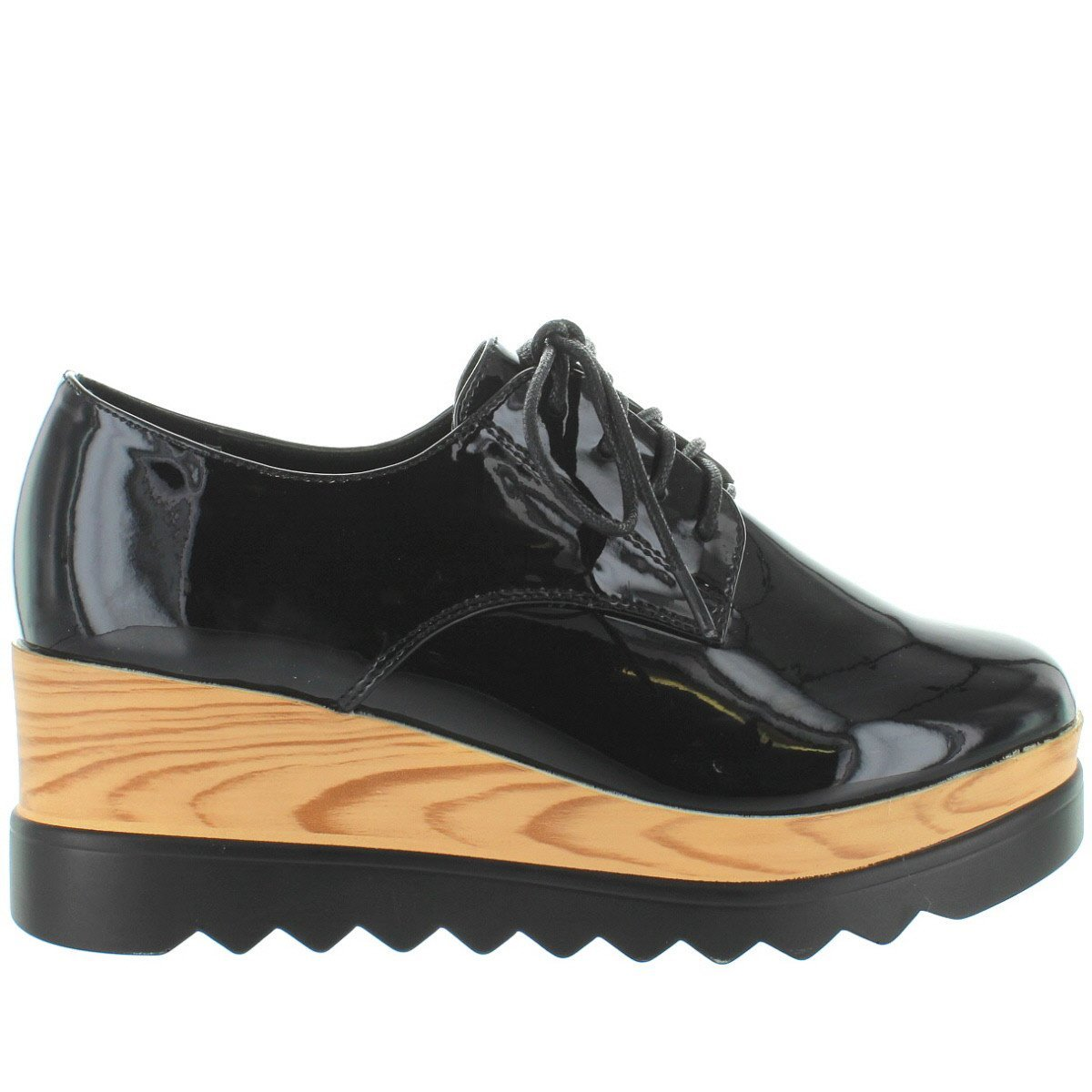 Wanted Womens Beekman Black Patent Oxford - 6.5