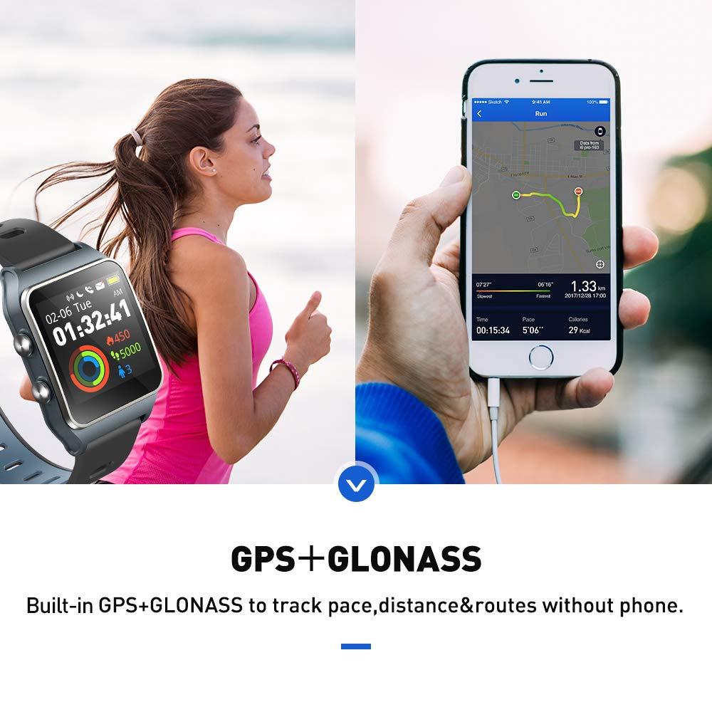 AIWEI TECH Fitness Tracker with Heart Rate Sleep Monitor,17 Sports Mode,Pedometer Smart Watch for Kids Men Women Color Screen,5ATM Waterproof
