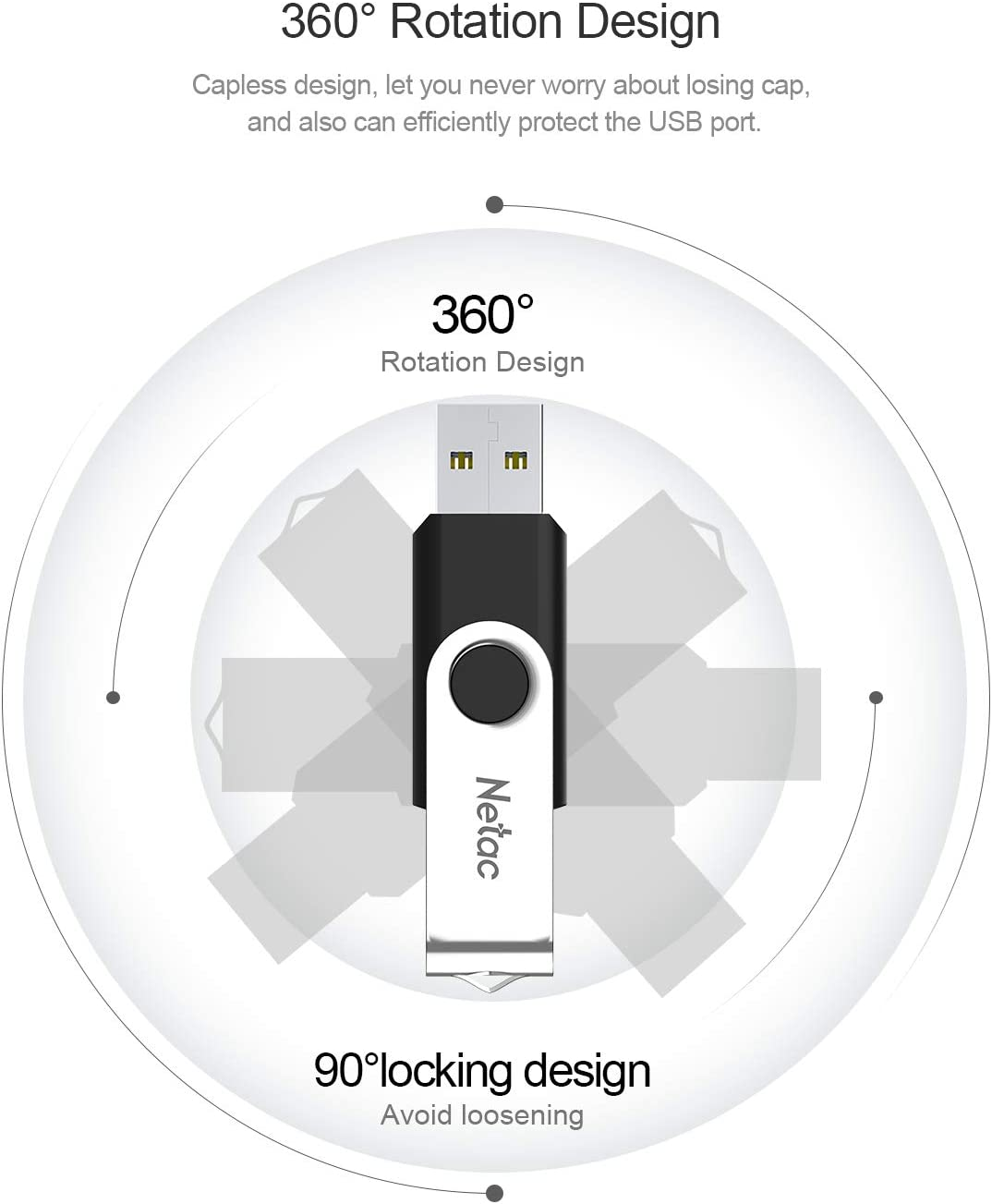 U505 USB Flash Drive 16GB 10Packs USB Stick USB Memory Stick for Computer//Laptop//External Data Storage USB 2.0 Thumb Drive Bulk Metal Swivel Design Jump Drive for Photo//Video Pen Drive