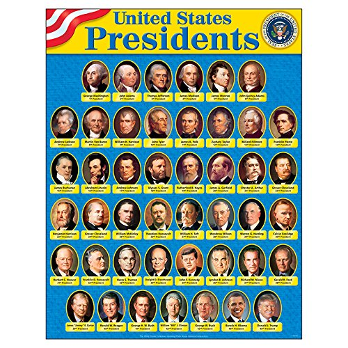 TREND enterprises, Inc. United States Presidents Learning Chart, 17