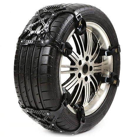 6Pcs Coche Universal TPU Neumáticos de invierno Ruedas Cadenas de nieve para automóviles/Suv Estilo