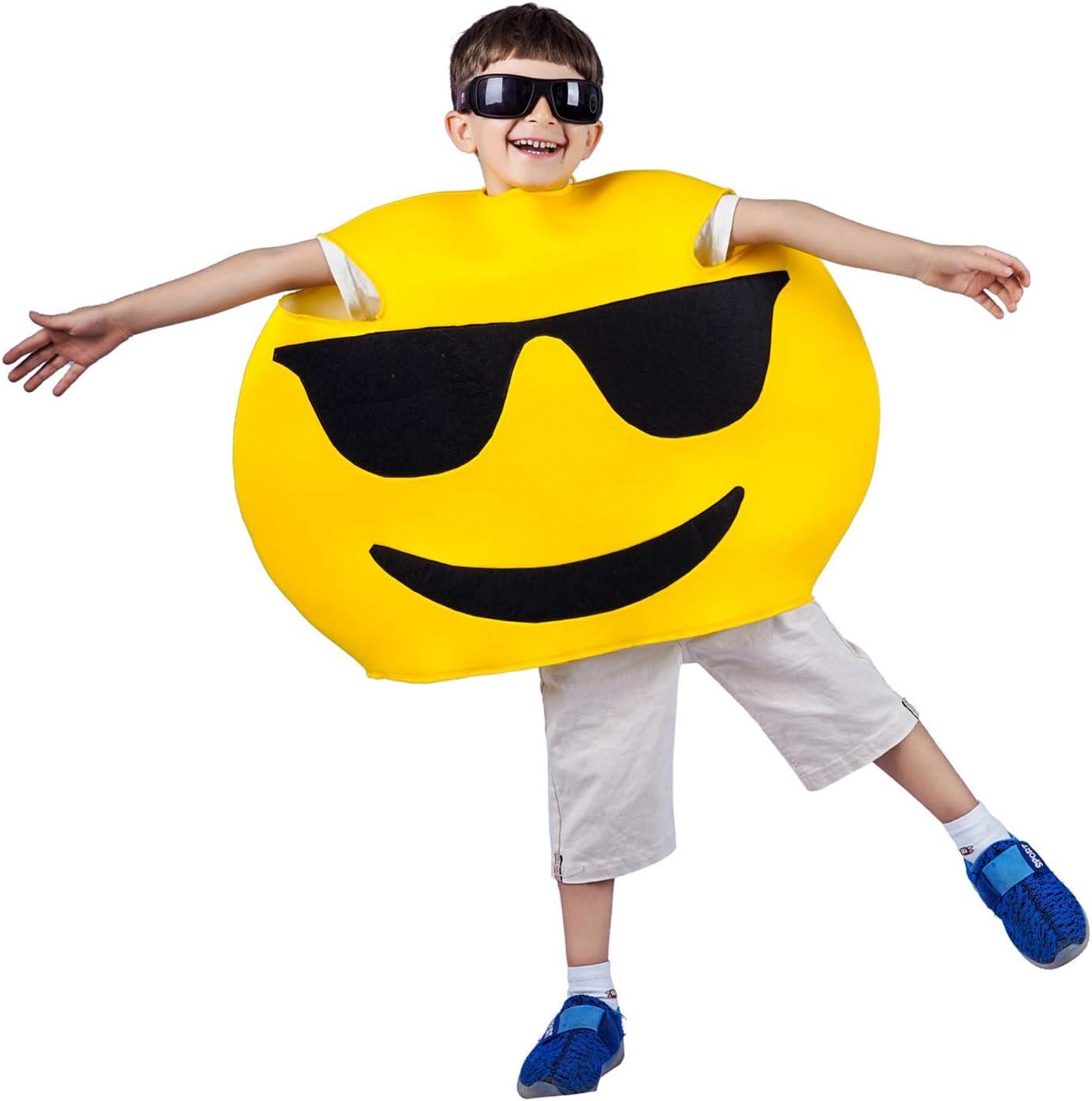 SEA HARE Gafas de Sol para niños Cool Face Emoticon Disfraz (One ...