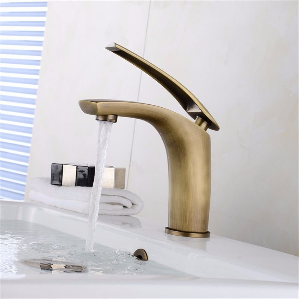 ETERNAL QUALITY Bathroom Sink Basin Tap Brass Mixer Tap Washroom Mixer Faucet Antique faucet hot and cold full copper check Washbasin Faucet surface basin sink hot and co