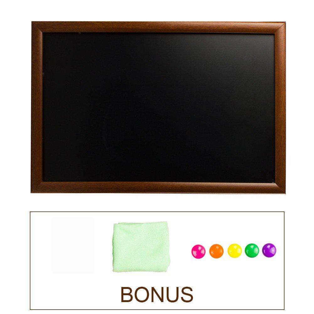 Vintage Wooden Framed Magnetic Chalkboard Sign, Erasable Wood Frame Blackboard by SUPERIORFE, 11.8'' W X 17.7'' L