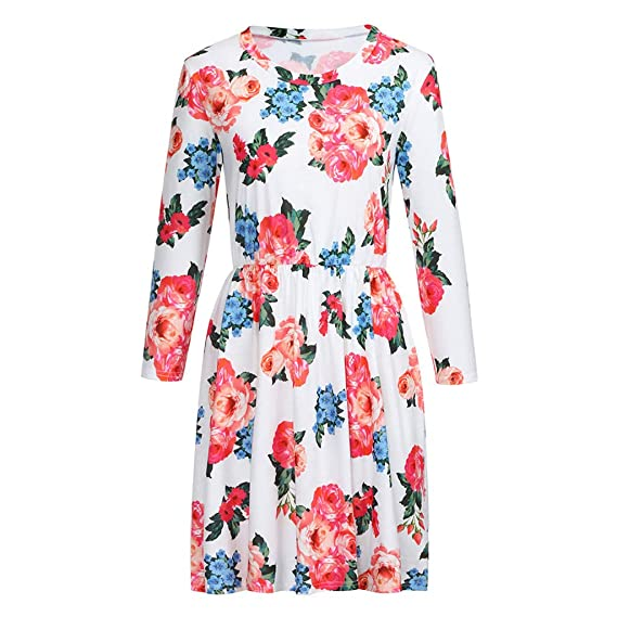 Amazon.com: Dress for Mother and Daughter Printed Flowers Bohemia Maxi Vintage Holiday Family Clothing Dresses Photography Toponly: Arts, Crafts & Sewing