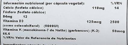 Vitamina D3 y K2 60 Cápsulas Solaray: Amazon.es: Salud y cuidado personal