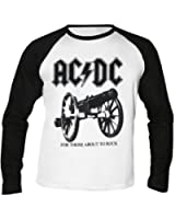AC/DC - For Those About to Rock - Baseball - Langarm - Shirt / Longsleeve