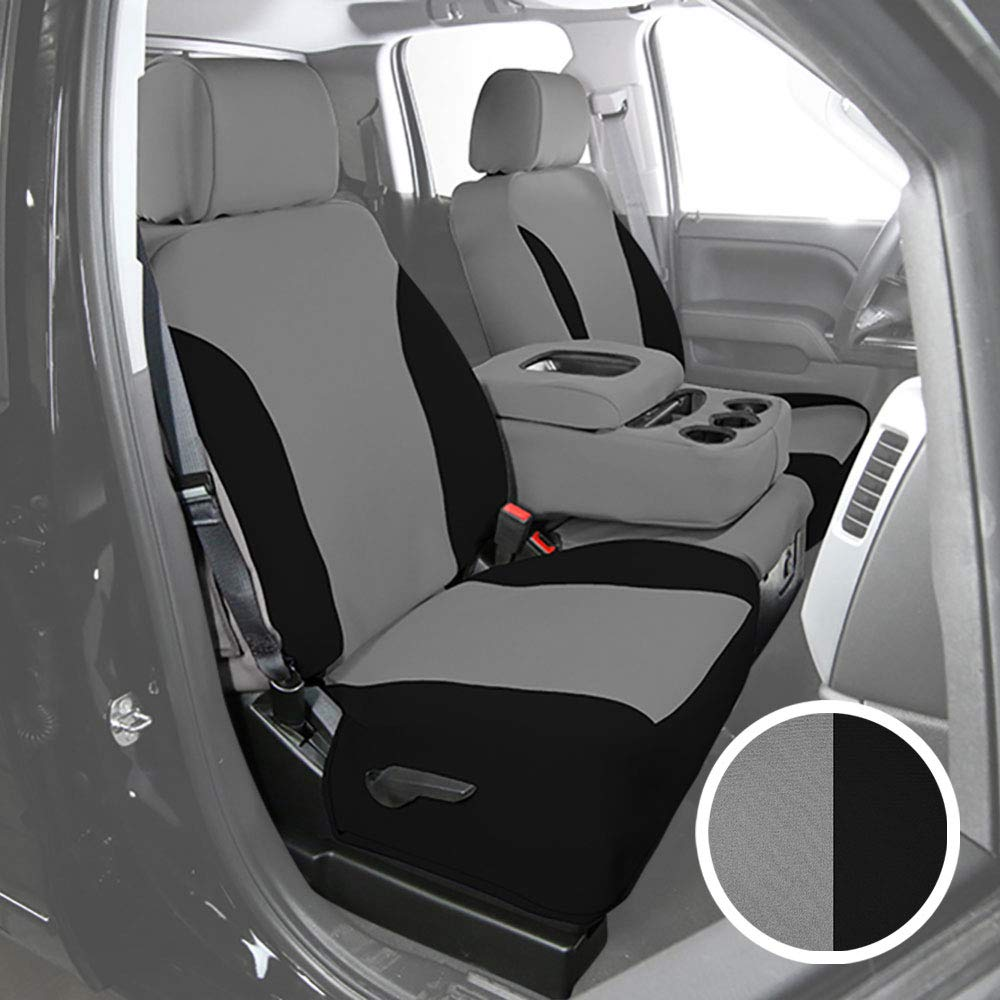 Saddleman S 199784-14 Gray//Black Custom Made Front Low Back Bucket with Airbag Seat Covers