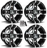 "Fairway Alloys 10"" Prestige Gloss Black Golf Cart Wheels/Rims E-Z-GO & Club Car"