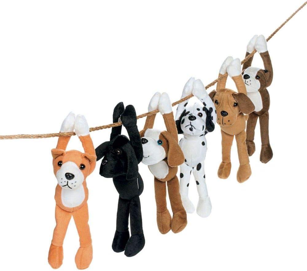 Set Of Dog Stuffed Animals, Amazon Com Hanging Dog Stuffed Animals Stuffed Dog Plush With Hook And Loop Fastener Paws Set Of 12 Toys Games